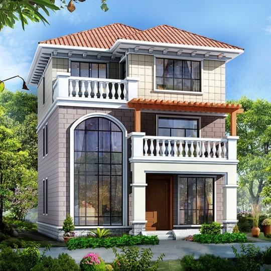 占地9.3x12.8三层自建别墅设计全套施工图