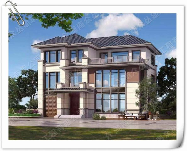 豪华三层中式别墅设计施工图纸