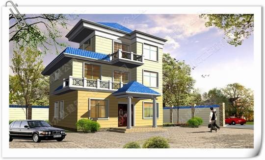 三层欧式高端农村住宅设计新款