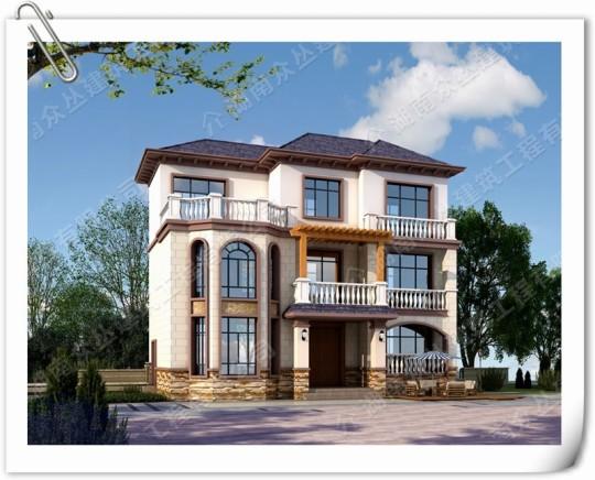三層新中式帶堂屋鄉村別墅