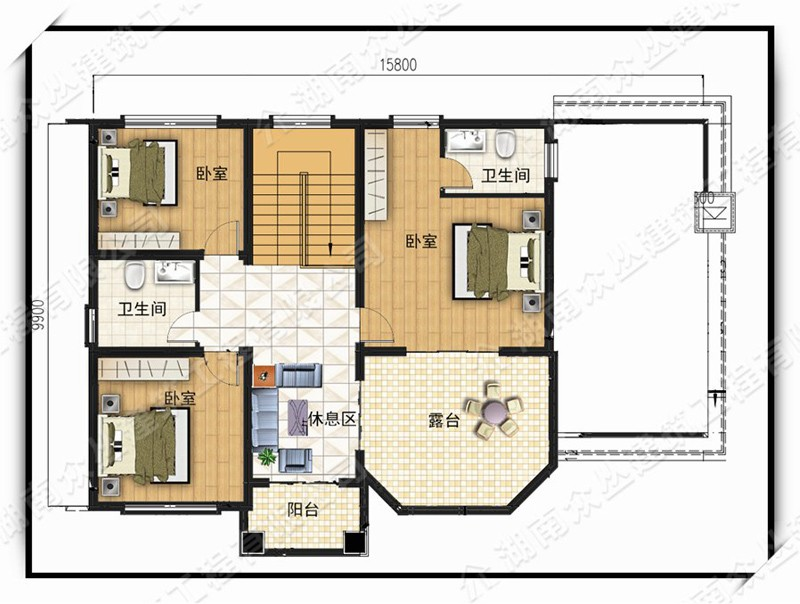 欧式二层别墅设计图平面图