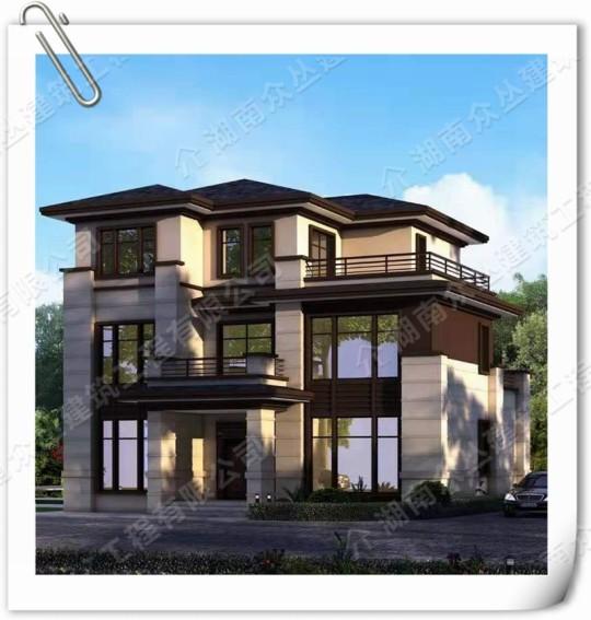 400平新中式乡村别墅3层自建房