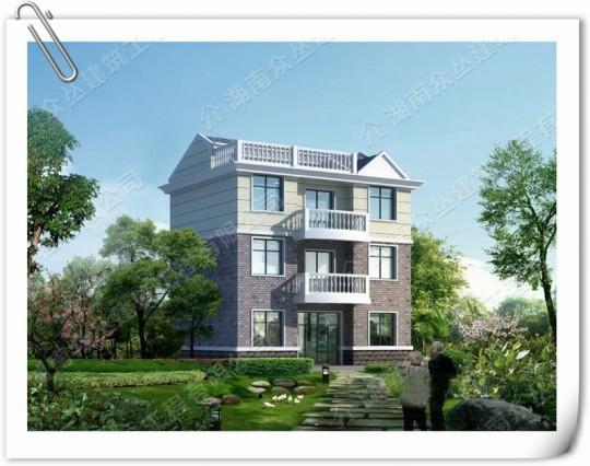中式古典宅院別墅效果圖