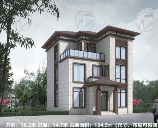 农村自建两层半小别墅,农村房子设计图
