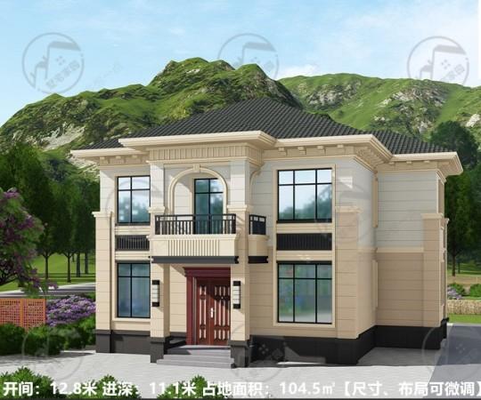 100平方米房屋设计图,小洋房