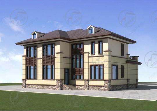 新中式设计别墅,建筑图纸大全