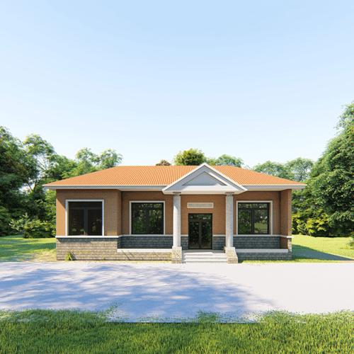 15x11欧式一层自建别墅设计