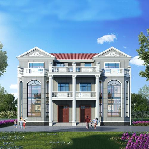 18x13欧式一层自建别墅设计