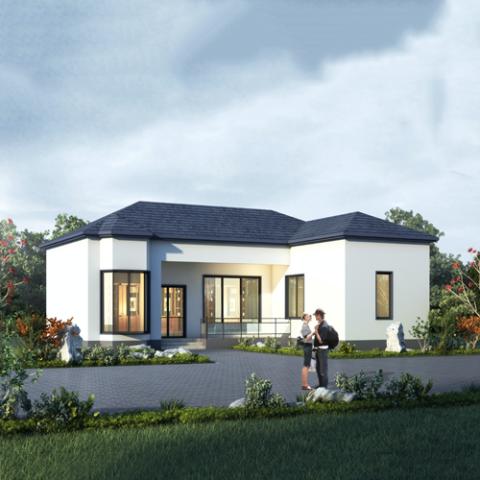 16x13一层欧式自建别墅设计