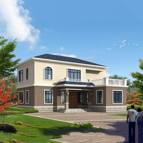 12x12两层欧式自建别墅设计