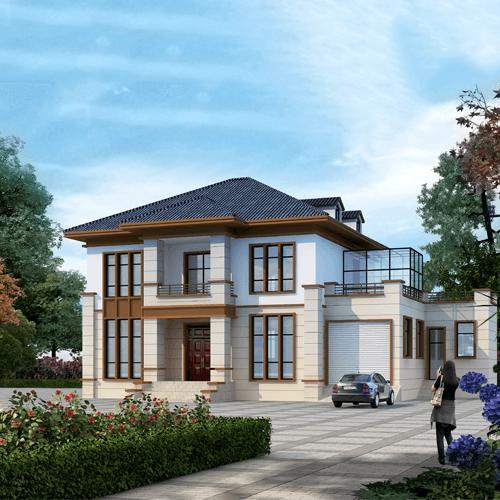 20x13两层新中式别墅设计图纸