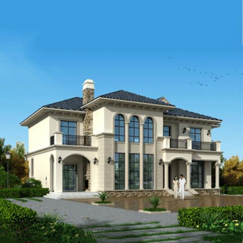 21x15欧式两层自建别墅设计