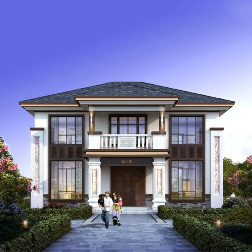 14x13二层新中式自建别墅设计图