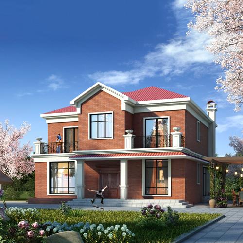 14x15二层欧式自建别墅设计