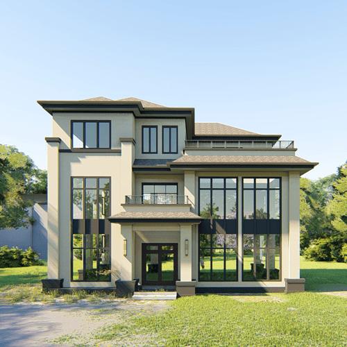 14x10三层新中式别墅设计