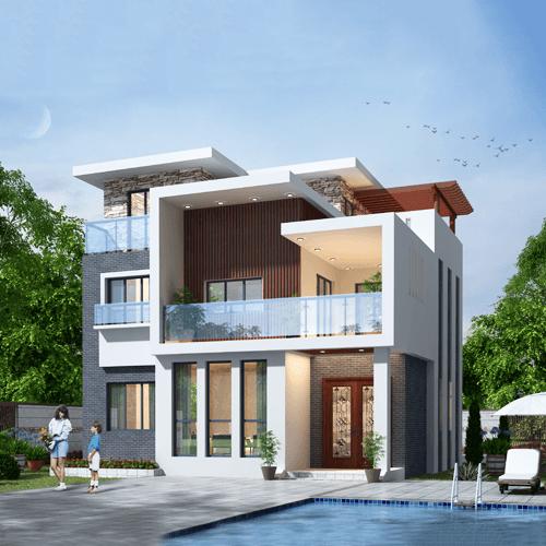10x10三层现代风格自建别墅设计