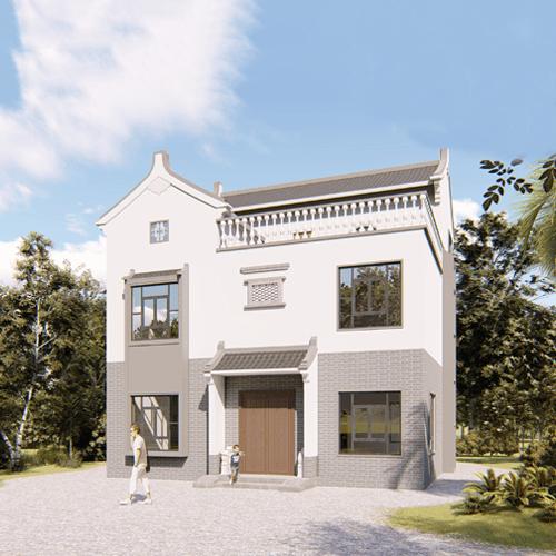 10x11三层中式自建别墅设计