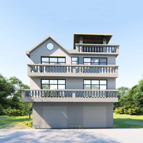 11x9三层欧式自建别墅设计