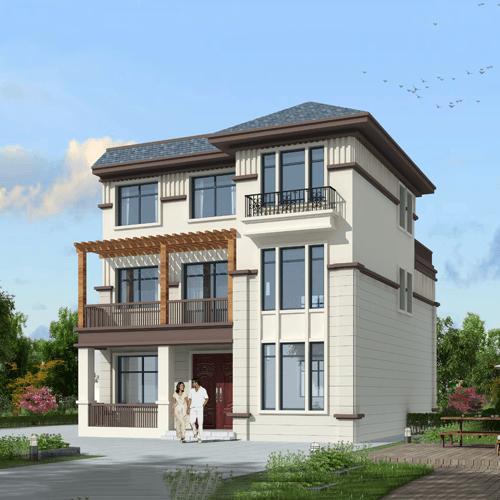 10x12三层自建别墅设计