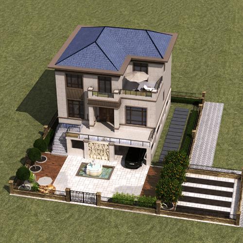 11x13两层新中式别墅设计图纸