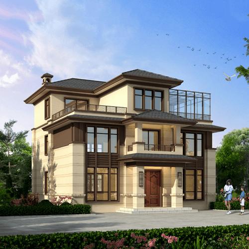 12x13三层新中式别墅设计全套图纸