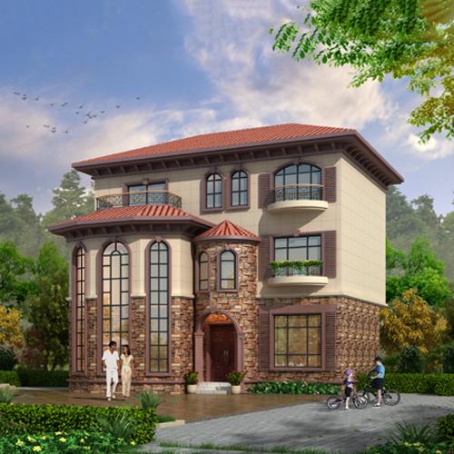 12x11三层欧式自建别墅设计