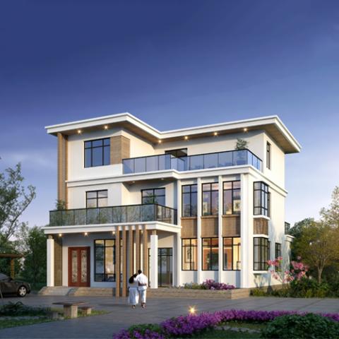 13x15三层现代风格自建别墅设计