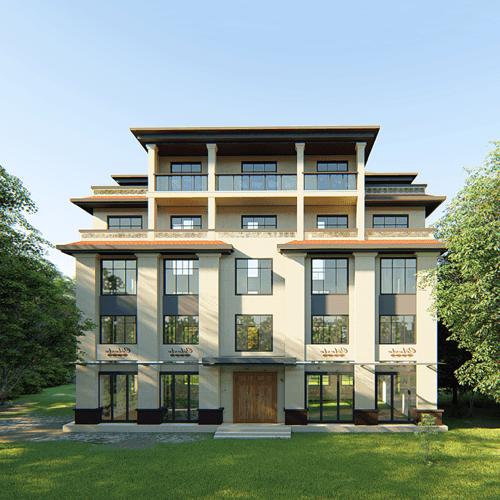 22x15欧式五层自建别墅设计