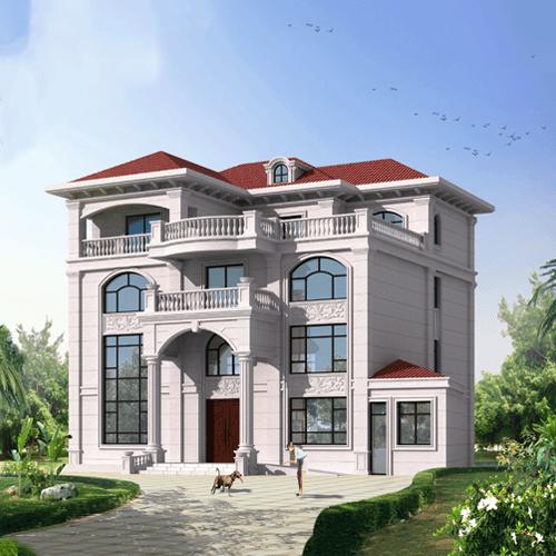 15x15欧式四层自建房设计