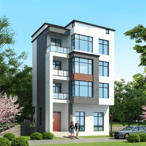 9x12五層現代風格自建房設計