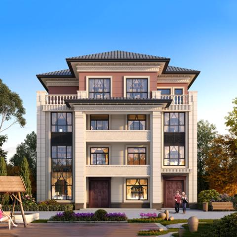15x13四层新中式自建别墅设计