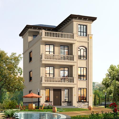 7x12四层欧式自建别墅设计图纸