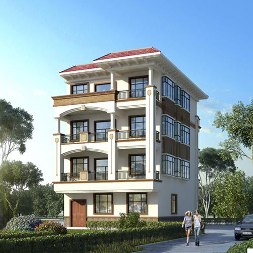 10x13四层欧式自建别墅设计