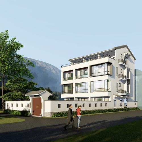 13x12四层中式别墅设计全套图纸