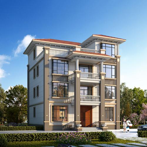 12x12四層歐式自建別墅設計
