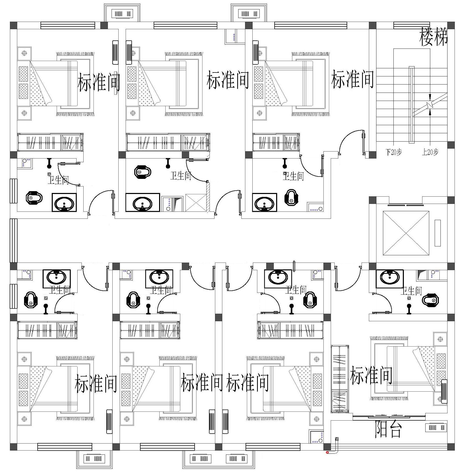 现代五层以上别墅设计图平面图