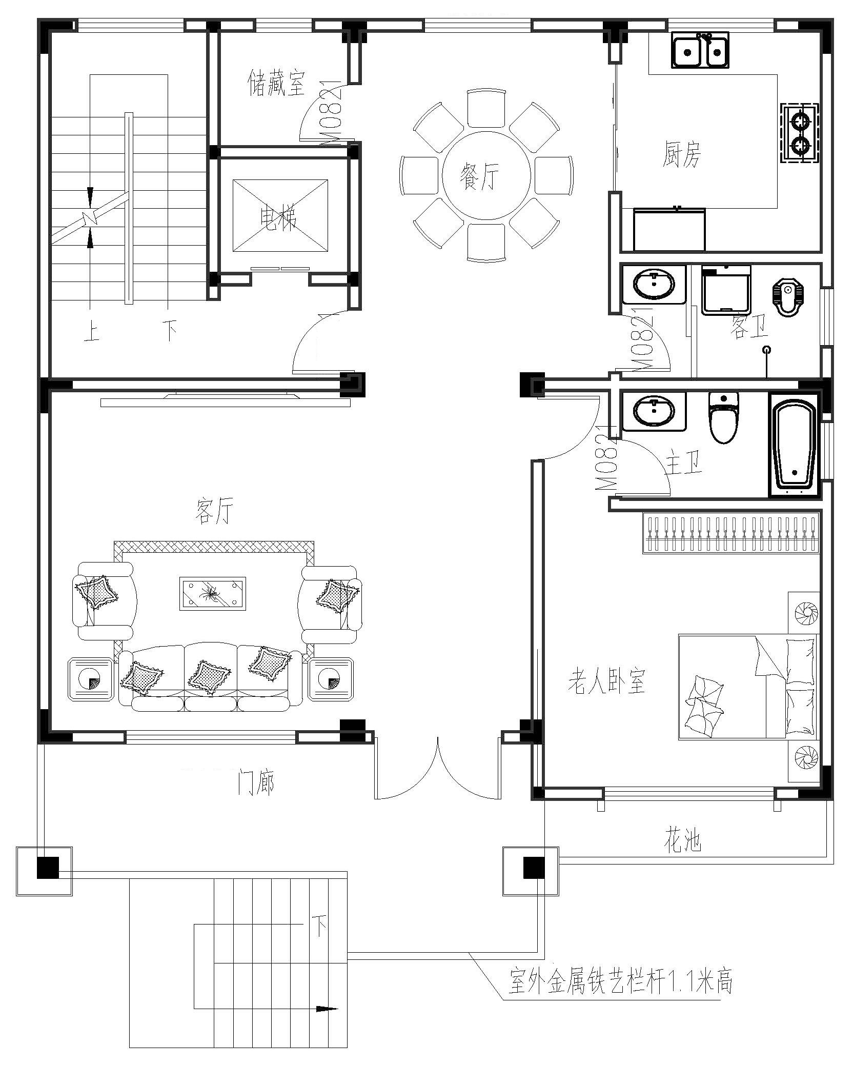 欧式五层以上别墅设计图平面图