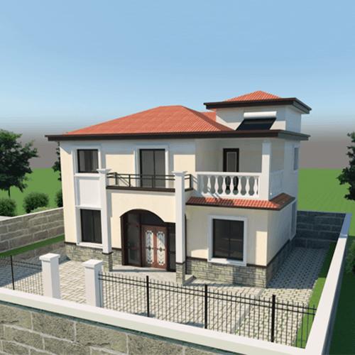 11x8兩層新中式自建別墅設計