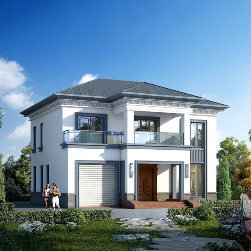 13x13二层新中式自建别墅