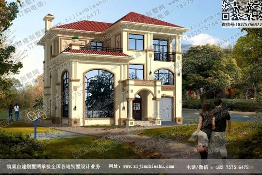 三层框架结构造价约40万农村别墅设计图纸及外观效果图