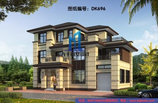16x8三层新中式别墅
