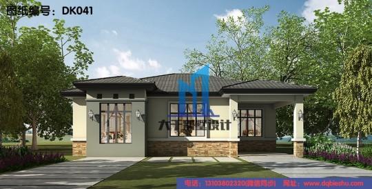 13x13一层砖混结构别墅