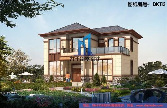 12x10二層新中式精致別墅