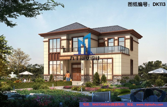 12x10二层新中式精致别墅