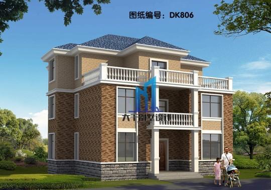 16x12三层欧式别墅