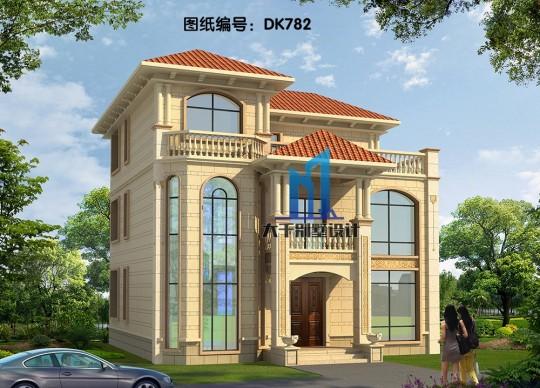 三层欧式别墅 八角窗设计时尚