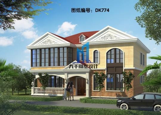 两层简欧别墅 拱形窗户设计 布局设计合理
