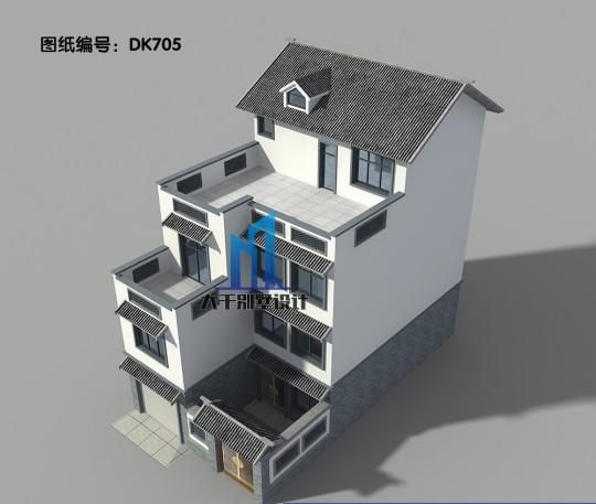 四层中式别墅 客厅挑空