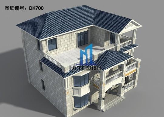 三层欧式别墅 外观时尚大气 布局合理