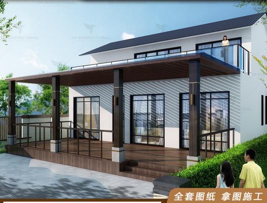 中式二層獨棟別墅設計圖紙